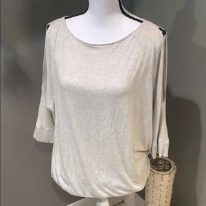 The Limited Light Heather Gray Cold shoulder top